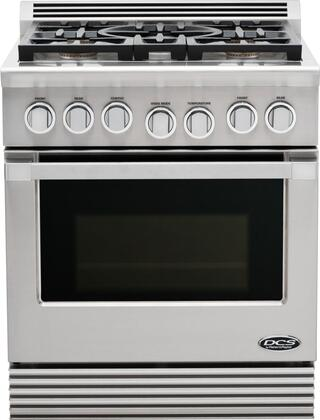 "DCS RGU305N 30""  Gas Freestanding Range with Sealed Burner Cooktop, 4.6 cu. ft. Primary Oven Capacity, in Stainless Steel"
