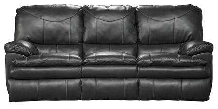 "Catnapper Perez Collection 4141- 85"" Reclining Sofa with Bonded Leather Upholstery, Luggage Stitching and Pub Back Design in"