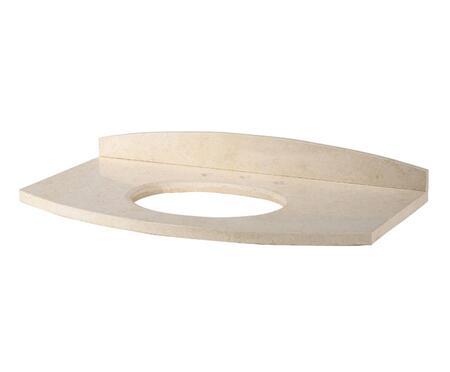 "Xylem Capri SCAPRIXXGB xx"" Vanity Stone Top for Undermount Sinks in Galala Beige Marble"