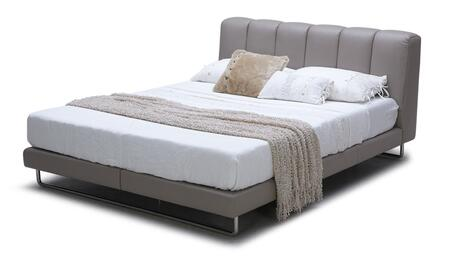 VIG Furniture VGKKB259GRYEK Modrest Heather Series  E King Size Platform Bed