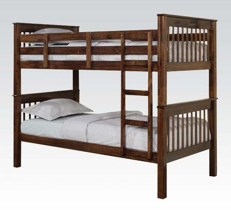 Acme Furniture Haley Collection Bunk Bed With Fixed Built In Ladder