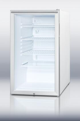 Summit SCR450LHHADA  Compact Refrigerator with 4.1 cu. ft. Capacity in Stainless Steel