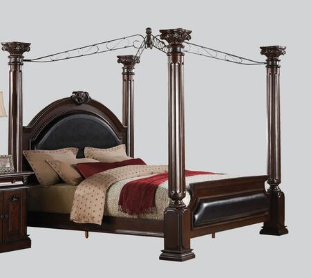 Acme Furniture 19340Q Roman Empire Series  Queen Size Canopy Bed