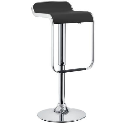 """Modway EEI-169 LEM 23"""" Vinyl Bar Stool with Polished Steel Frame, 360 Degree Swivel, Adjustable Height and Vinyl Seat"""