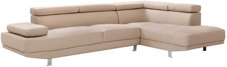 Glory Furniture G443SC Milan Series Curved Fabric Sofa