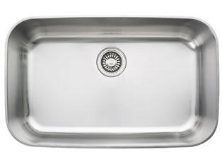 Franke OXX Oceania Series Single Bowl Sink with Ledge in Stainless Steel
