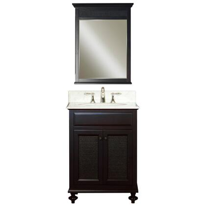 Water Creation LONDONB Sink Bathroom Vanity with London-M-2136 Matching Mirror, Undermount Ceramic Lavatory Sink, Marble Countertop, Soft Closing Drawers and Solid Hardwood Construction in Dark Espresso