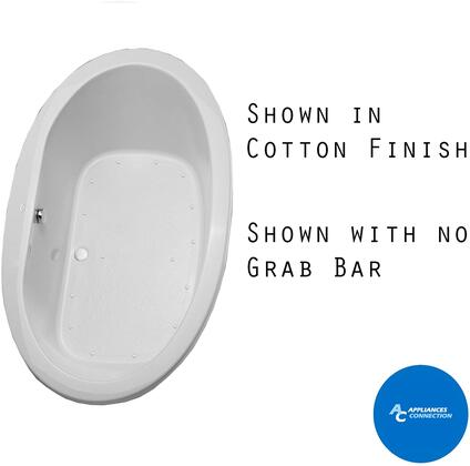 Toto ABR904T12Y Pacifica Series Drop-In Airbath Tub with Acrylic Construction, Slip-Resistant Surface, and Grab Bar, Sedona Beige Finish