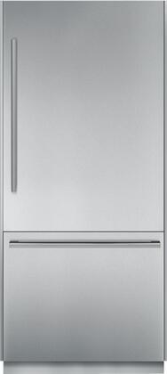 "Thermador T36BB8X0SS 36"" Energy Star Freedom Collection Built In Bottom Freezer Refrigerator With 20 cu. ft. Capacity, LED Sidewall Lights, Freedom Hinge, Supercool, and Frost Free: Stainless Steel"