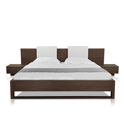 Modloft MD316QWAL Monroe Series  Queen Size Platform Bed