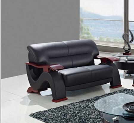 Global Furniture USA U2033BLL Bonded Leather Stationary with Wood Frame Loveseat
