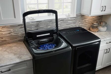 Samsung Appliance Wa54m8750av 27 Inch Black Stainless