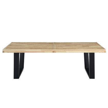 Modway EEI175NAT Sauna Series Accent Armless Wood Not Upholstered Bench