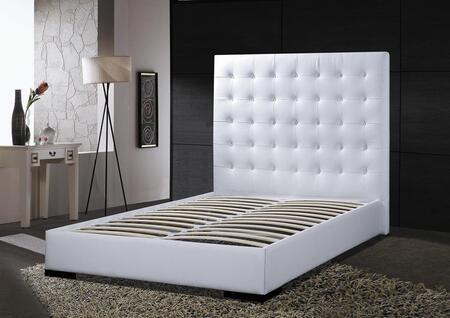DG Casa 1155-QWHT Delano Series  Queen Size Platform Bed