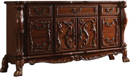 Acme Furniture 4565 Dresden Dresser with 5 Drawers, 2 Doors, Interior Shelf, Antique Brass Hardware, Ball and Claw Feet in