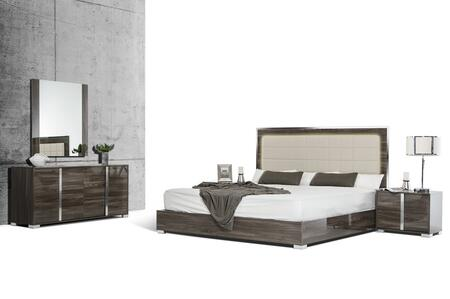 VIG Furniture VGACSANMARINOSETGRYCK San Marino Series 5 Piece Bedroom Set
