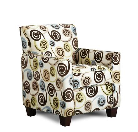 Chelsea Home Furniture 472800 Genna Accent Chair with 16 Gauge Wire, Sinuous Spring, Hi-Density Foam Cores and Solid Kiln Dried Hardwood Frames in