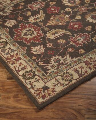 "Milo Italia Bailee RG417110TM "" x "" Size Rug with Traditional Design, Hand-Tufted, 5-6mm Pile Height and Wool Material in Backed with Cotton Latex in Brown Color"