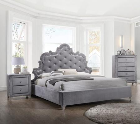 Meridian SOPHIEQPBBEDROOMSET Sophie Queen Bedroom Sets | Appliances ...