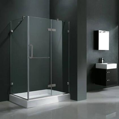 "Vigo VG6011XXCL36WR 36"" x 48"" Frameless 3/8"" Shower Enclosure with Right Base:"