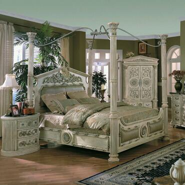 Yuan Tai RM1000K Romeo Series  King Size Canopy Bed