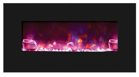 Amantii WMBIFI344423BLKGLS Fire & Ice Series Wall Mountable Electric Fireplace