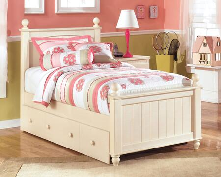 Signature Design by Ashley B213POSTERTRBED Cottage Retreat Collection X Size Poster Bed with Trundle in Cream