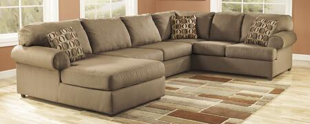 Sectional with RAF Sofa, LAF Chaise and Armless Loveseat in Mocha
