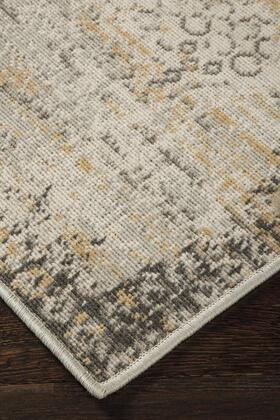"Signature Design by Ashley Dallon R40046 "" x "" Size Rug with Antiqued Washed Design, Machine-Tufted, 9mm Pile Height, Spot Clean or Professional Carpet Cleaning and Polypropylene Material in Silver Color"