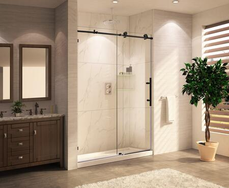 "Paragon Bath PARTCRSBS0348 Premium 3/8""-10mm Thick Clear Tempered Glass Frameless Sliding Shower Door"