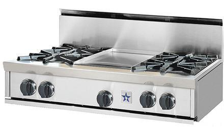 BlueStar RGTNB366BSS RGTNB Series Gas Open Burner Style Cooktop
