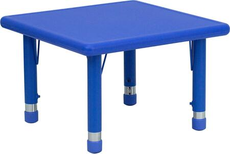 "Flash Furniture YU-YCX-002-2-SQR-TBL-XX-GG 24"" Square Height Adjustable Plastic Activity Table with Floor Glides"