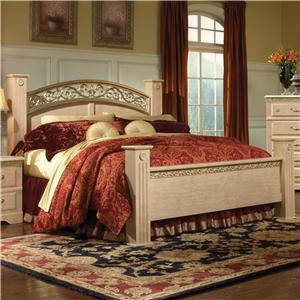 Standard Furniture 57266A Porto Fino Elite Series  King Size Poster Bed
