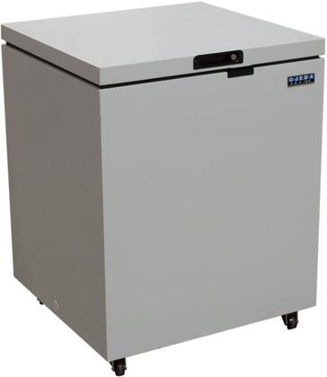 Ojeda NCFx Chest Freezer with Steel Construction, Adjustable Thermostat, Lid Lock, Foamed Door 0 to -10 Degrees F Operating Temperature, in White
