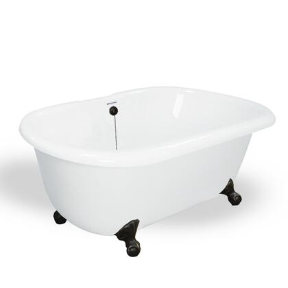 American Bath Factory T070A- Melinda Bathtub no Faucet Holes, Waste & Overflow Included, Chip and Wear Resistant: