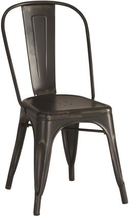 Coaster 105612 Dining Chairs and Bar Stools Series Rustic Metal Frame Dining Room Chair
