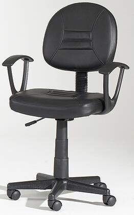 "Chintaly 0648CCHBLK 16.85"" Adjustable Contemporary Office Chair"