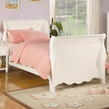 Coaster 400360 Pepper White Finish Sleigh Bed by Coaster Co.