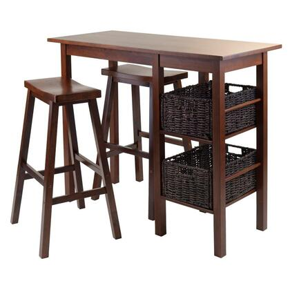 Winsome 9458X Egan 5pc Breakfast Table with 2 Baskets and 2 Stools