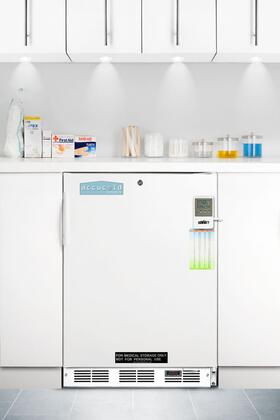 Summit FF7LBIMEDSC AccuCold Series Built In Counter Depth Compact Refrigerator with 5.5 cu. ft. Capacity, 3 Glass ShelvesField Reversible Doors