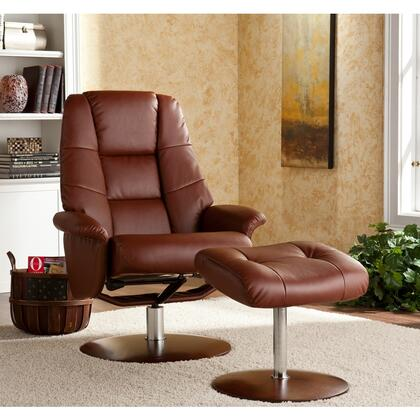Holly & Martin 85238046108 Transitional Bonded Leather Metal Frame  Recliners