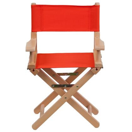 "Flash Furniture 23"" Kids Director's Chair with Removable Covers, Arms, Cross Legs, Beechwood Frame, Portable Design, Canvas Seat and Back Cover in"