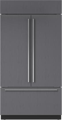 "Sub-Zero BI-42UFD/X 42"" Built-In French Door Refrigerator with 24.7 cu. ft. Total Capacity, Water Filtration System, Automatic Ice Maker, and Air Purification System, in"