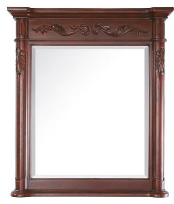 Avanity PROVENCE-MX-AC Provence Series Mirror, with Beveled Edge, Hand Carved Wood Details, and Wall Cleat for Easy Hanging, in Antique Cherry Finish