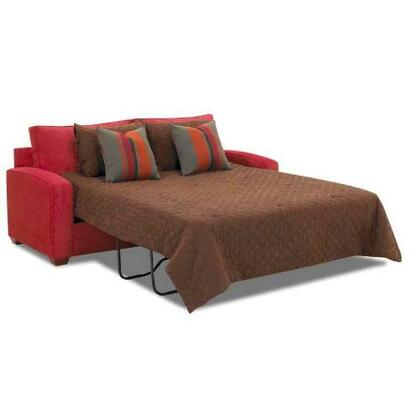Klaussner BOOTHQSLP Booth Series Pull-Out Microfiber Sofa