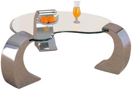 Coaster 720058 Chrome Contemporary Table