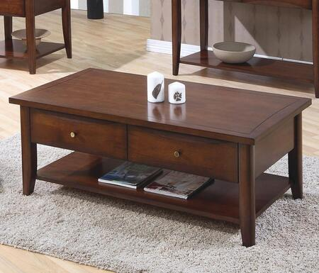Coaster 700958 Walnut Contemporary Table