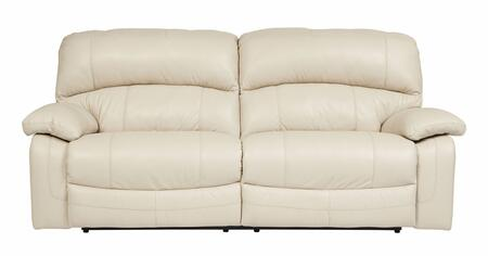 Signature Design by Ashley Damacio U9820X47 2-Seat Powered Reclining Leather Sofa with Detailed Stitching, Plush Divided Back Cushions and Pillow Padded Arms in
