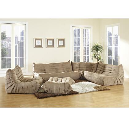 Modway EEI558BRN Contemporary Microfiber Living Room Set