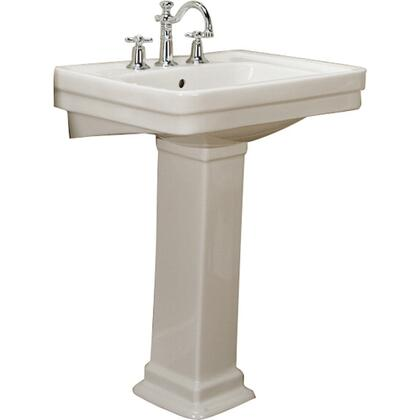 """Barclay 3-64 Sussex 550 Pedestal Lavatory, with Pre-drilled Faucet Hole, 8"""" Basin Depth, and Vitreous China Construction"""